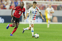CLEVELAND, OHIO - JUNE 22: Christian Pulisic during a 2019 CONCACAF Gold Cup group D match between the United States and Trinidad & Tobago at FirstEnergy Stadium on June 22, 2019 in Cleveland, Ohio.