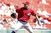 May 21, 2009:  Starting Pitcher Zach Jackson of the Columbus Clippers, International League Triple-A affiliate of the Cleveland Indians, delivers a pitch during a game at Coca-Cola Field in Buffalo, NY.  Photo by:  Mike Janes/Four Seam Images