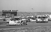 The #66 Argo/Mazda of Mike Meyer,  Jim Rothbarth, Chris Gennone and Charles Morgan leads a pack of cars during  the Rolex 24 at Daytona, Daytona International Speedway, Daytona Beach, FL, February 1, 1987.  (Photo by Brian Cleary/www.bcpix.com)