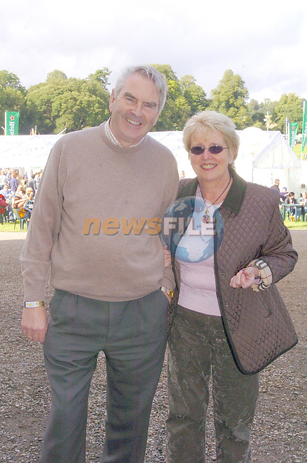 day off for a change to enjoy the concert, Eamon and Ann Courtney having a strol around the VIP area...Photo Fran Caffrey Newsfile.ie..This Picture has been sent to you by Newsfile Ltd..The Studio,.Millmount Abbey,.Drogheda,.Co. Meath,.Ireland..Tel: +353(0)41-9871240.Fax: +353(0)41-9871260.ISDN: +353(0)41-9871010.www.newsfile.ie..general email: pictures@newsfile.ie
