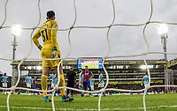 Luka Milivojevic of Crystal Palace prepares to take his penalty against Goalkeeper Ederson of Manchester City which the keeper saves during the Premier League match between Crystal Palace and Manchester City at Selhurst Park, London, England on 31 December 2017. Photo by Andy Rowland.