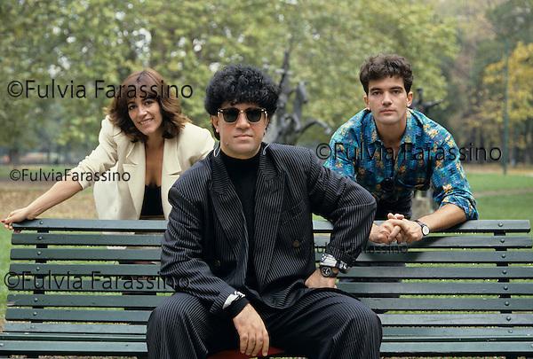 Milano, 1988<br /> Pedro Almod&ograve;var, Carmen Maura, Antonio Banderas