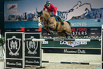 Hans-Dieter Dreher of Germany riding Callisto at the the Massimo Dutti Trophy during the Longines Hong Kong Masters 2015 at the AsiaWorld Expo on 15 February 2015 in Hong Kong, China. Photo by Juan Flor / Power Sport Images