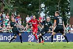 20.07.2019, Heinz-Dettmer-Stadion, Lohne, GER, Interwetten Cup, SV Werder Bremen vs 1. FC Koeln<br /> <br /> im Bild<br /> Ludwig Augustinsson (Werder Bremen #05), <br /> Marcel Risse (Koeln #07), <br /> Davy Klaassen (Werder Bremen #30), <br /> Niklas Moisander (Werder Bremen #18), <br /> <br /> Foto © nordphoto / Ewert