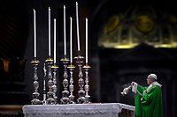 Pope Francis mass  of the Poor, St Peter's basilica in Vatican. November 19, 2017