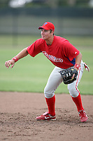 April 10, 2009:  First Baseman Jakub Sladek of the Philadelphia Phillies extended spring training team during an intrasquad scrimmage at Carpenter Complex in Clearwater, FL.  Photo by:  Mike Janes/Four Seam Images