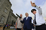 MCD event co-ordinator Eamon Fox, Lord Henry Mountcharles, and Chief Superintendent Fergus Healy after the Slane Castle Trafic Management Press Conference for Metallica concert at Slane Castle, Meath, Ireland. 30/05/2019.<br /> Picture Fran Caffrey / Newsfile.ie<br /> <br /> All photo usage must carry mandatory copyright credit (© Newsfile | Fran Caffrey)