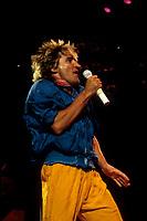 FILE PHOTO :  Rod Stewart<br /> <br />  , circa 1985<br /> <br /> PHOTO : Harold Beaulieu - Agence Quebec Presse