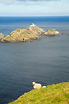 Muckle Flugga lighthouse, Britain's most northerly point, Hermaness, Unst, Shetland Islands