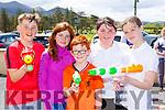 Eoin Kissane, Maria Culhane, Michael Culhane Katie O'Leary and Niamh O'Sullivan in the Kilgobnet NS Family Colour Splash run on Sunday