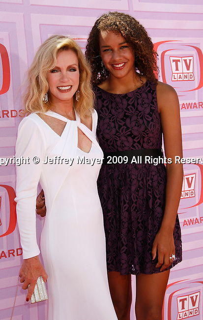 UNIVERSAL CITY, CA. - April 19: Donna Mills and daughter Chloe arrive at the 2009 TV Land Awards at the Gibson Amphitheatre on April 19, 2009 in Universal City, California.