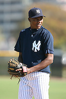 March 17th 2008:  Noel Castillo of the New York Yankees minor league system during Spring Training at Legends Field Complex in Tampa, FL.  Photo by:  Mike Janes/Four Seam Images