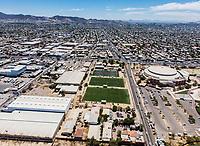 Vista aerea de Complejo deportivo de la Comisión Estatal de Deporte, CODESON en Hermosillo, Sonora....<br /> Estadio Héroe de Nacozari. <br /> CUM. <br /> Campos de futbol de la Liga Oxxo.<br /> Boulevard o calle Periferico Norte.<br /> Nave Industrial. <br /> <br /> <br /> Photo: (NortePhoto / LuisGutierrez)<br /> <br /> ...<br /> keywords: