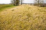 White Barrow neolithic long barrow burial mound tumulus, near Tilshead, Salisbury Plain, Wiltshire, England, UK