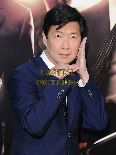 """Ken Jeong.""""The Hangover Part III"""" Los Angeles Premiere held at the Westwood Village Theater, Los Angeles, California, USA..May 20th, 2013.half length blue tie suit shirt white hands arms posing funny .CAP/DVS.©DVS/Capital Pictures"""