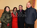 Archdeacon Jim Carroll withFiona Carroll, Paula and John Browne after his last mass in Our Lady of Lourdes church. Photo:Colin Bell/pressphotos.ie