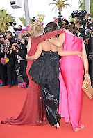"Jane Fonda, iInes de la Fressange and Leila Bekht attending the ""Madagascar III"" Premiere during the 65th annual International Cannes Film Festival in Cannes, France, 18.05.2012..Credit: Timm/face to face/MediaPunch Inc. ***FOR USA ONLY***"