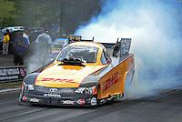 Jun. 16, 2012; Bristol, TN, USA: NHRA funny car driver Jeff Arend during qualifying for the Thunder Valley Nationals at Bristol Dragway. Mandatory Credit: Mark J. Rebilas-