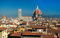Italien, Toskana, Florenz, Blick vom Palazzo Vecchio auf Dom, Unesco-Weltkuturerbe
