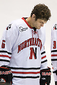 David Strathman (NU - 6) - The Northeastern University Huskies defeated the Bentley University Falcons 3-2 on Friday, October 16, 2009, at Matthews Arena in Boston, Massachusetts.