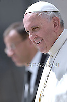 Pope Francis during his weekly general audience in St. Peter square at the Vatican, Wednesday.June 25, 2014.