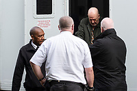 "Pictured: Kenneth Male (3rd L) arrives at Merthyr Crown Court.<br /> Re: A predatory paedophile was jailed for 12 years by Merthyr Crown Court for a series of historic sex offences on an innocent schoolgirl in Wales, UK.<br /> Kenneth Male was in his forties and a ""Good Samaritan"" in his community when he started grooming the girl who was just 10 at the time.<br /> But a jury found him guilty and he was jailed for 11 years  and given an extended sentence of one year when he was sentenced at Merthyr Tydfil Crown Court.<br /> Male, now 61, treated her with trips to Barry Island, sweets and other confectionery in a bid to earn her trust of the girl and the blessing of her parents."