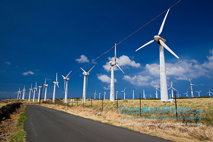 Kamoa Wind Farm, South Point Road, Big Island, Hawaii