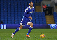 Matthew Connolly of Cardiff City during the Sky Bet Championship match between Cardiff City and Preston North End at Cardiff City Stadium, Wales, UK. Tuesday 31 January 2017