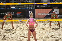 VADUZ, LIECHTENSTEIN, 10.08.2019- FIVB BEACH VOLLEYBALL WORLD TOUR: Pleun Ypma (C) da Holanda durante a partida das quartas de final a contar para o torneio FIVB Beach Volleyball World Tour Star1 na Beacharena, em Vaduz, Liechtenstein, nesse sabado 10. (Foto: Bruno de Carvalho / Brazil Photo Press)