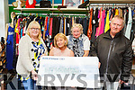 Proceeds from a local bucket collection in Listowel of the sum of €747 given to the Listowel branch of the Wheelchair Association in their shop on Monday and that are hoping that they can also recruit more volunteers for their branch. <br /> L to r: Mary Stack, Jackie Barrett-Madigan, Evelyn Nolan and Peter O'Sullivan.