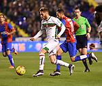 Levante UD's Morales and Granada CF's Rochina during La Liga match. December 12, 2015. (ALTERPHOTOS/Javier Comos)