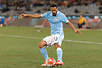 Melbourne, 21 July 2015 - Gaël Clichy of Manchester City kicks the ball in game two of the International Champions Cup match at the Melbourne Cricket Ground, Australia. City def Roma 5-4 in Penalties. (Photo Sydney Low / AsteriskImages.com)