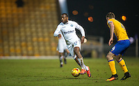 Myles Weston of Wycombe Wanderers in action during the The Checkatrade Trophy  Quarter Final match between Mansfield Town and Wycombe Wanderers at the One Call Stadium, Mansfield, England on 24 January 2017. Photo by Andy Rowland.