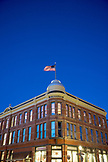 USA, Colorado, Aspen, the Elks Building at dusk in downtown Aspen