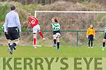 Gillian Courtney  Killarney Celtic clears the ball against Kilcolman in the u14 FAI cup on Saturday in Celtic Park
