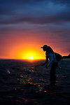 Leah Sodowick Saltwater Fly Fishing in Christmas Island at sunrise