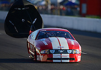 Sept. 29, 2012; Madison, IL, USA: NHRA pro mod driver XXXX during qualifying for the Midwest Nationals at Gateway Motorsports Park. Mandatory Credit: Mark J. Rebilas-
