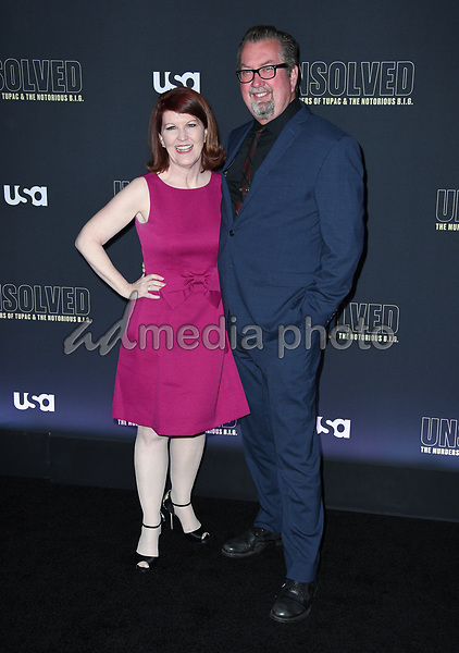 "22 February 2018 - Hollywood, California - Kate Flannery. USA Network's ""Unsolved: The Murders of Tupac & The Notorious B.I.G."" held at Avalon Hollywood. Photo Credit: Birdie Thompson/AdMedia"