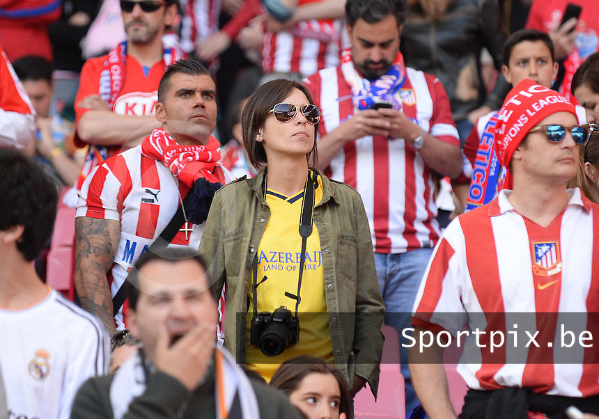 20140524 - LISBON , PORTUGAL : Atletico Fans pictured during the soccer match between Real Madrid CF and Club Atletico de Madrid in the UEFA Champions League Final on Saturday 24 May 2014 in Estadio Da Luz in Lisbon .  PHOTO DAVID CATRY