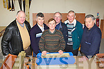 MENS SHED: The men who help put the Tralee Mens Shed together at the Tralee Mart on Monday l-r: Mike McCarthy, Willie Joe O'Halloran, John Foley, Seamus McCarthy, Paudie Nolan and John O'Keeffe.