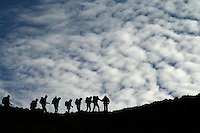 Trekkers in the Cordillera Huayhuash Range - Peru - South America