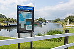 Gloucester and Sharpness Canal, Purton, Gloucestershire, England, UK Canal and River Trust information notice