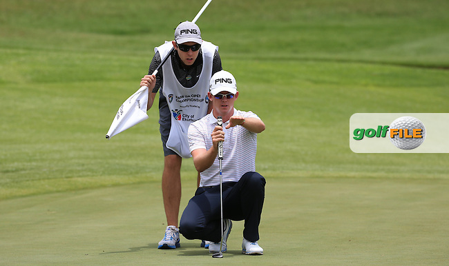 Brandon Stone (RSA) on the tail of Daniel Brooks (ENG)  during Round Three of the 2016 BMW SA Open hosted by City of Ekurhuleni, played at the Glendower Golf Club, Gauteng, Johannesburg, South Africa.  09/01/2016. Picture: Golffile | David Lloyd<br /> <br /> All photos usage must carry mandatory copyright credit (&copy; Golffile | David Lloyd)