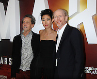 NEW YORK, NY-October 26:  Brian Grazer,  Jihae, Ron Howard  at National Geographic Channel presents the Epic Six-Part Event Series MARS premiere at the School of Visual Arts  in New York.October 26, 2016. Credit:RW/MediaPunch