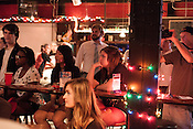 August 7, 2013. Hillsborough, North Carolina.<br />  Billsborough Live Music Hall, on Churton Street, is a new music venue catering to all types of acts. On a recent night, they held an all ages show for graduating high schoolers leaving for college and their bands.