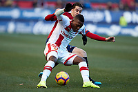 Juan Villar (forward; CA Osasuna) during the Spanish football of La Liga 123, match between CA Osasuna and  RCD Mallorca at the Sadar stadium, in Pamplona (Navarra), Spain, on Sunday, January 20, 2019.