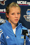 3 December 2005: Stephanie Kron. The UCLA Bruins held a press conference the day before playing in the NCAA Women's College Cup, the Division I Championship soccer game at Aggie Soccer Stadium in College Station, TX.