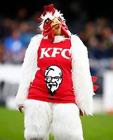 KFC mascot during the Super Rugby match between the Pulse Energy Highlanders and the Cell C Sharks at the Forsyth Barr Stadium in Dunedin, New Zealand on Friday, 7 February 2020. Photo Steve Haag / stevehaagsports.com