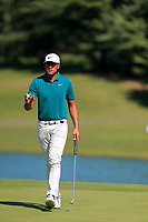 Tony Finau (USA) on the 2nd during the final round at the WGC HSBC Champions 2018, Sheshan Golf CLub, Shanghai, China. 28/10/2018.<br /> Picture Fran Caffrey / Golffile.ie<br /> <br /> All photo usage must carry mandatory copyright credit (&copy; Golffile | Fran Caffrey)