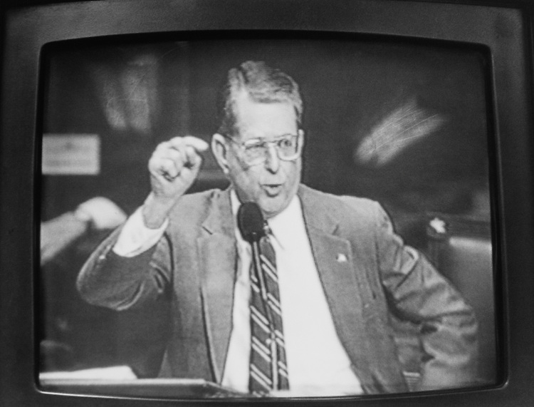 Rep. Gerald B. H. Solomon, R-N.Y., on March 29, 1993. (Photo by CQ Roll Call)